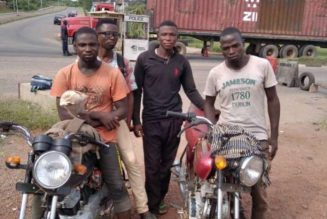 Four arrested in Abeokuta for riding bike from Minna
