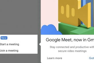 Google Meet starts rolling out in Gmail, continuing Google's quest to unseat Zoom