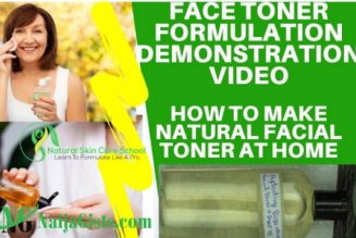 How To Make Your Own Professional All Natural Face Toner At Home