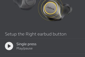 Jabra rolls out customizable controls and a hearing test for Elite 75t earbuds