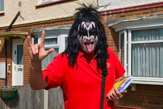Mail Carrier Dresses Up as KISS' Gene Simmons to Lift Spirits During Pandemic