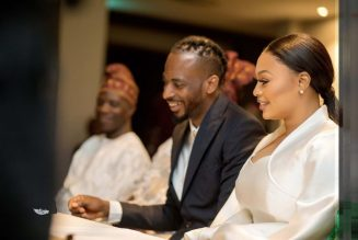 Photos From Court Wedding Of 9ice And Wife, Olasunkanmi Ajala