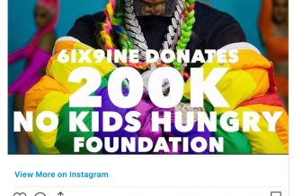 Tekashi 6ix9ine's $200,000 Donation Rejected by Child Hunger Charity