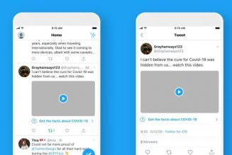 Twitter introducing new labels for tweets with misleading COVID-19 information