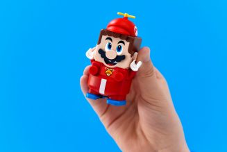 You can buy swappable outfits for Lego's Super Mario