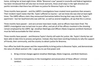 Beyoncé Demands Justice for Breonna Taylor in Open Letter to Kentucky's Attorney General