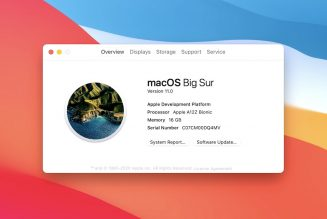 Big Sur is officially macOS 11.0 as Apple finally leaves OS X behind