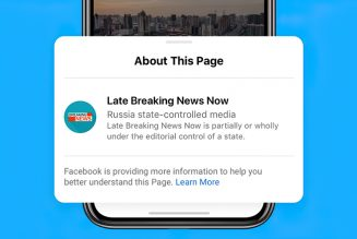 "Facebook is Applying Labels on ""State-Controlled"" News Publishers"