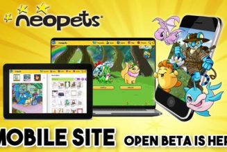 Neopets is launching open beta for a new mobile site