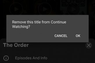 Netflix is making it easier for people to remove titles from their 'continue watching' row
