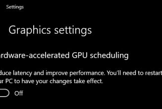 Nvidia now supports DirectX 12 Ultimate and new Windows 10 GPU scheduling feature