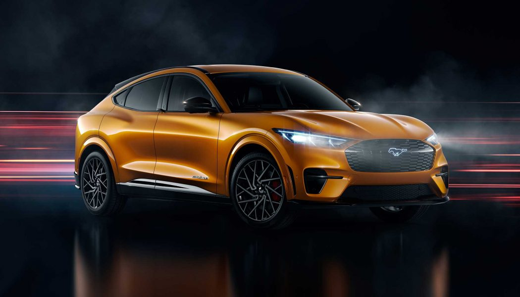 This Searing Orange Paint Ups the 2021 Ford Mustang Mach-E's Visual Wattage