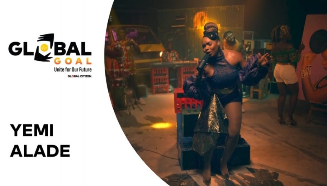 "WATCH: Yemi Alade Brightens the 'Global Goal: Unite for Our Future' Stage As She Performs ""Shekere"""