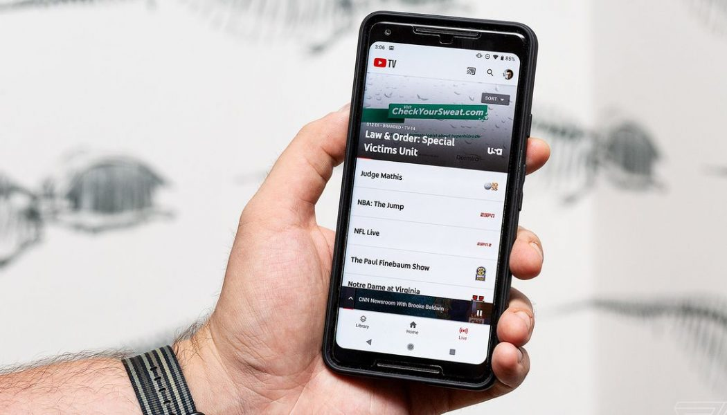 YouTube TV sharply increases monthly subscription to $64.99