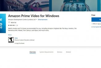 Amazon Prime Video launches Windows 10 desktop app