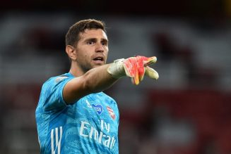 Arsenal goalkeeper sends two-word message to Watford striker