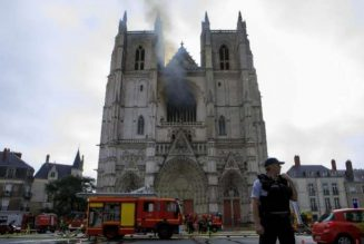 Arson suspected in major fire at French cathedral in Nantes