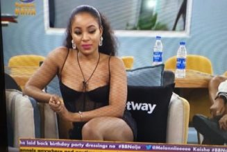 BBNaija Party: Kiddwaya touches Erica's breasts on the dance floor