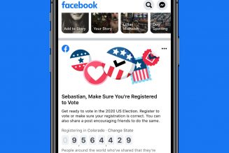 Facebook will pin voting registration links to the top of the News Feed for all US voters