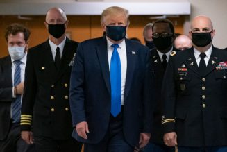 Racist President Wears Mask Publicly After 132K Die In U.S. From Coronavirus