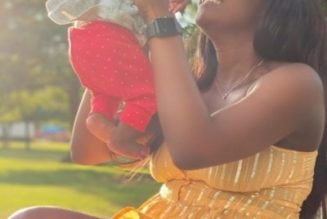 Simi shares first photo with her new born daughter