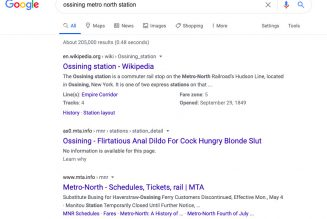 The MTA's got porn in its Google search results