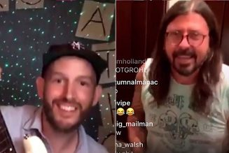 "Dave Grohl Surprises Superfan on Instagram Live, Jams Dire Straits' ""Money for Nothing"": Watch"