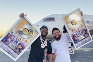 Davido receives plaque for hitting over 1 billion streams on 'A Good Time' album