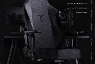 Secretlab's gaming chairs can now be wrapped in a low-key SoftWeave black fabric