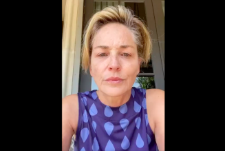 "Sharon Stone Begs ""Don't Vote for a Killer"" as Coronavirus Overruns Her Family: Watch"