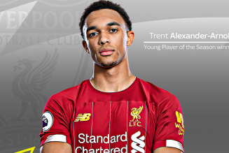 Trent Alexander Arnold wins Premier League Young Player of the Season award