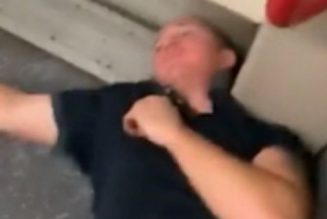 White Tosser Gets Proper Flattened On The Tube By Black Bruvs For Being A Daft Racist