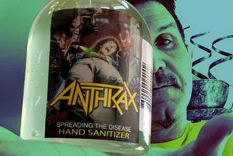 "Anthrax Announce ""Stop Spreading the Disease"" Hand Sanitizer"