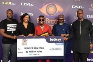 BBNAija winner Laycon receives his cash prize & car from Multichoice