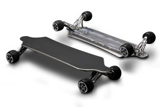 Hunter Board is a 34 mph electric skateboard with a unique suspension system