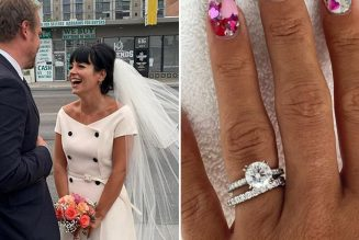 Lily Allen Is the Quintessential '60s Bride with a Wedding Ring to Match