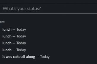 Slack's new recent status feature is roasting us for our many lunch breaks