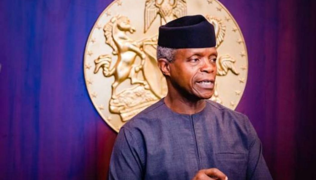 VP Osinbajo urges destination countries to insist on repatriation of illicit funds