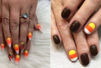 18 Candy Corn Manicures That Are Absolutely Giving Us a Sweet Tooth