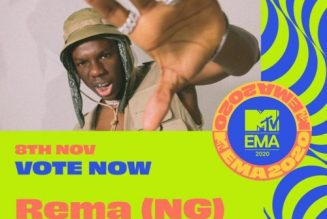 Burna Boy & Rema get MTV EMA Awards 2020 nomination; see full list