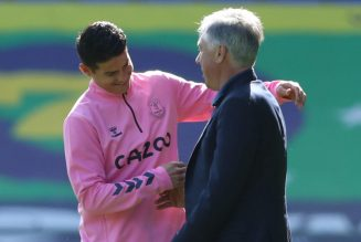 Carlo Ancelotti confirms James Rodriguez will miss the Southampton game