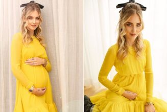 Chiara Ferragni Shows Off Her New Baby Bump in a Joyful Little Yellow Tea Dress