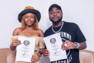 Davido officially signs Liya to record label DMW