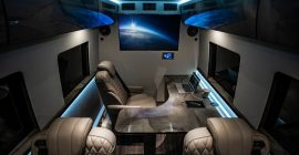 For VIPs on the Go, This Inkas Mercedes Sprinter Is Both Limo and Office