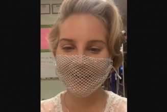 Lana Del Rey Criticized for Wearing Mesh Face Mask