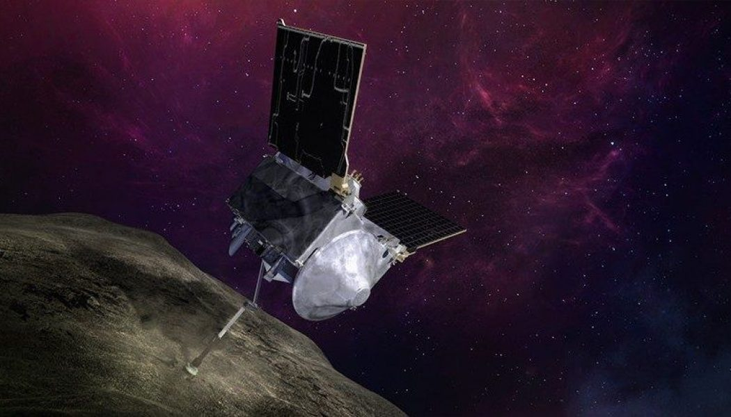 NASA's OSIRIS-REx probe successfully stores small sample of asteroid rocks in its belly