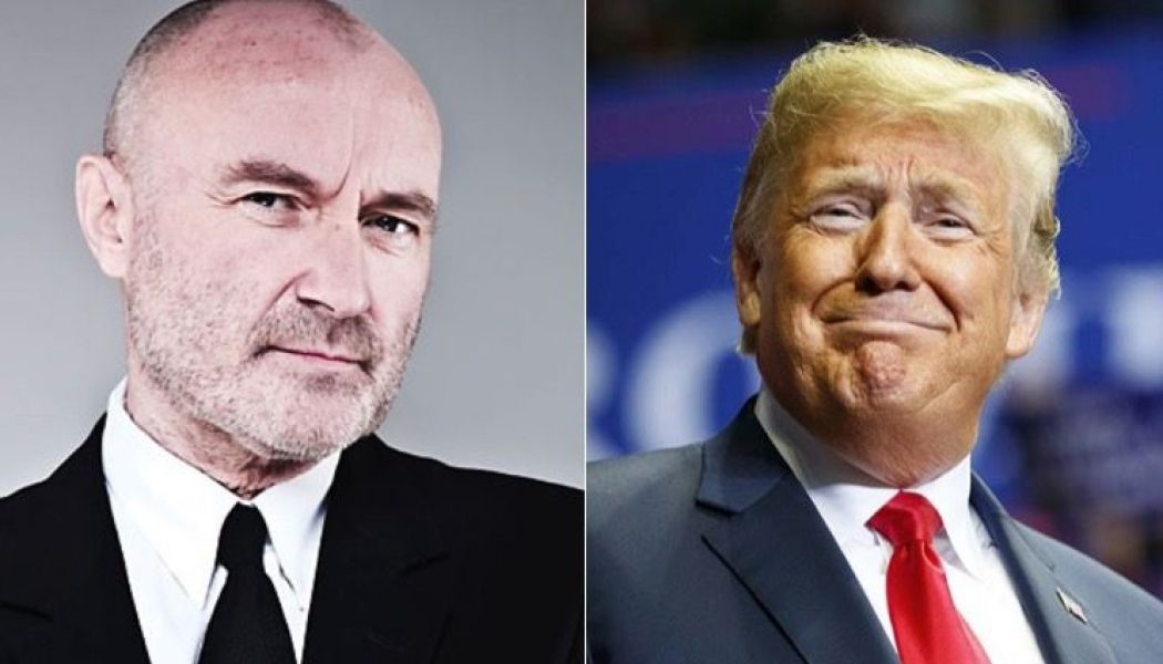 "Phil Collins Hits Trump with Cease and Desist Order After Playing ""In the Air Tonight"""