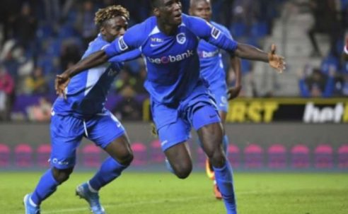 Super Eagles striker bags brace for Belgian club