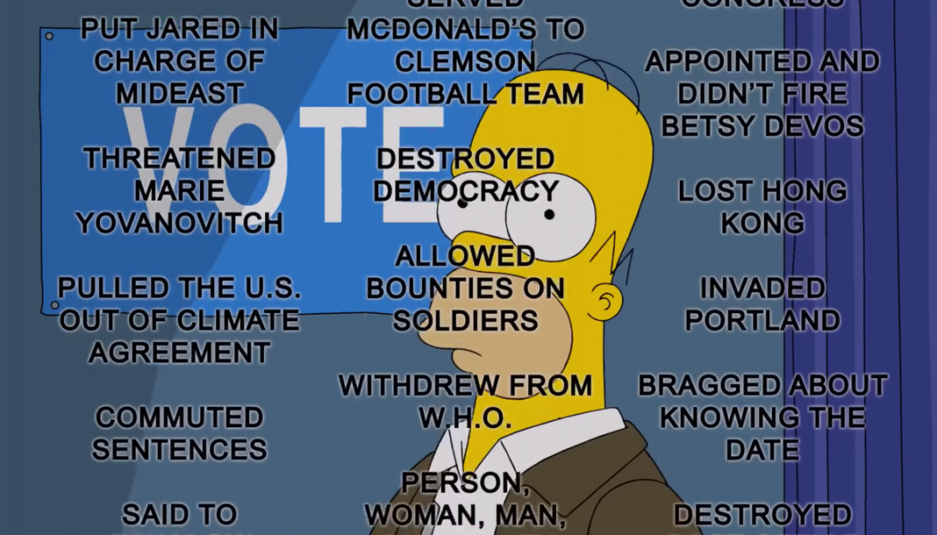 The Simpsons Lists 50 Terrifying Reasons To Vote Against Trump: Watch