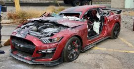 This 2020 Ford Mustang Shelby GT500 Was Cut Apart for Safety